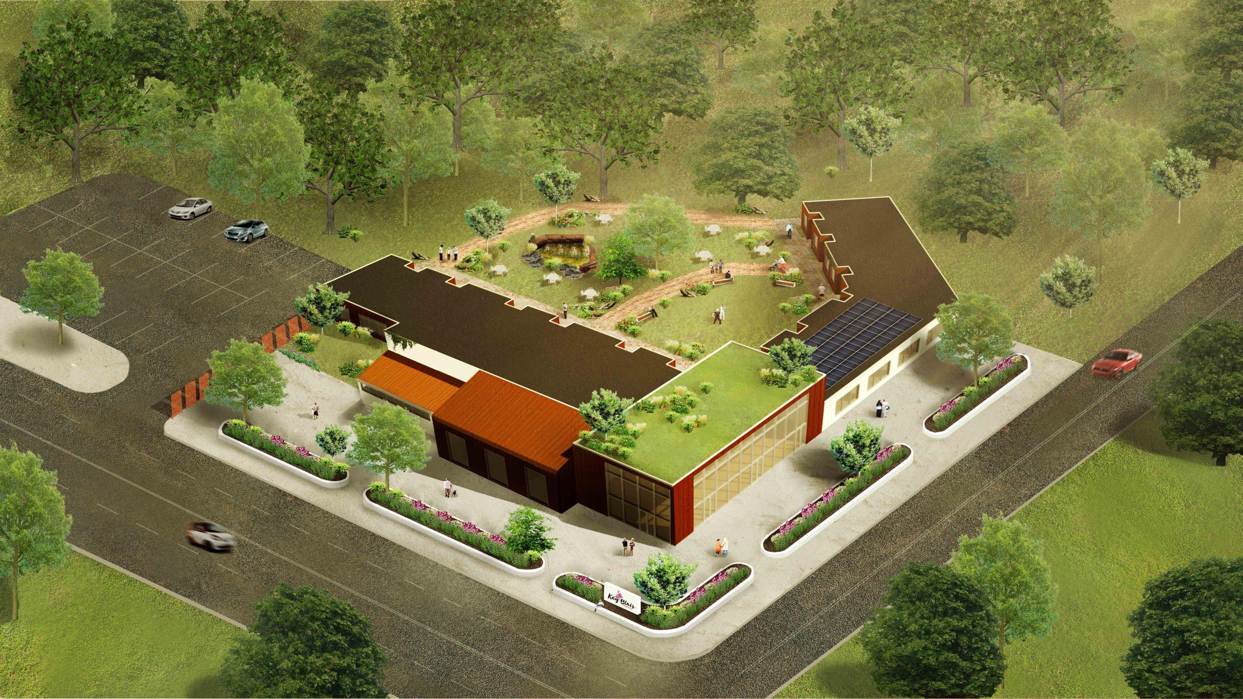 Aerial Image Kay Blair Hospice